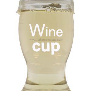 18,7 cl hvidvin i plastglas